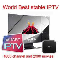 Volka Pro X96mini android tv box iptv subscription french arabic Italian Europe IPTV Smart tv Mag250 120 H265