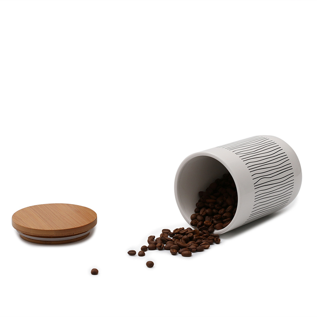 1Pc Ceramic Food Bottle Jar Containers with Airtight Seal Lid for Sugar Coffee Tea TB Sale 5