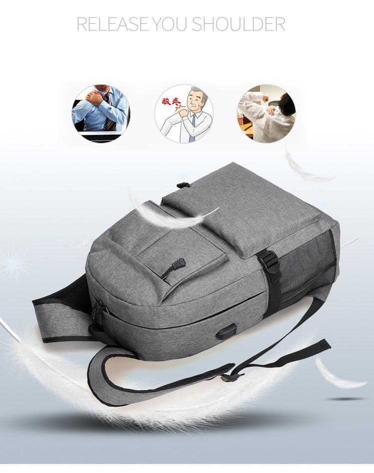 Topdudes.com - Casual Design Fashion USB Laptop Backpacks