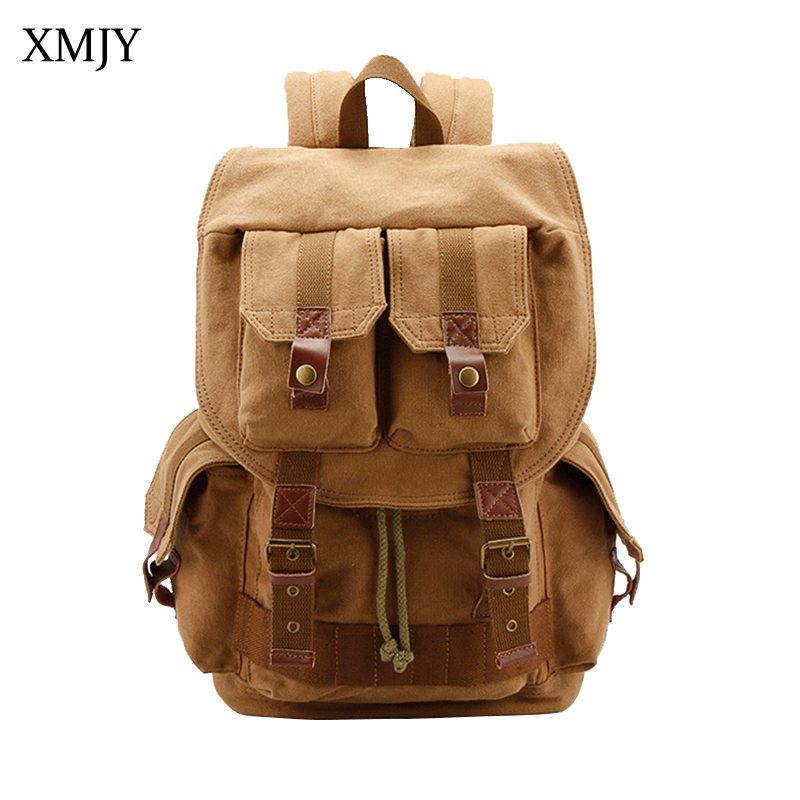 XMJY SLR Camera Bag Large Capacity Canvas Backpack With Liner & Waterproof Cover Multi-pockets DSLR Camera Case Travel Rucksacks bagsmart dslr slr camera shoulder bag water repellent polyester with rain cover green grey black