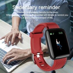 Image 3 - Reloj inteligente deportivo D13, pulsera inteligente deportiva con control de la presión sanguínea y del ritmo cardíaco, 116 Plus