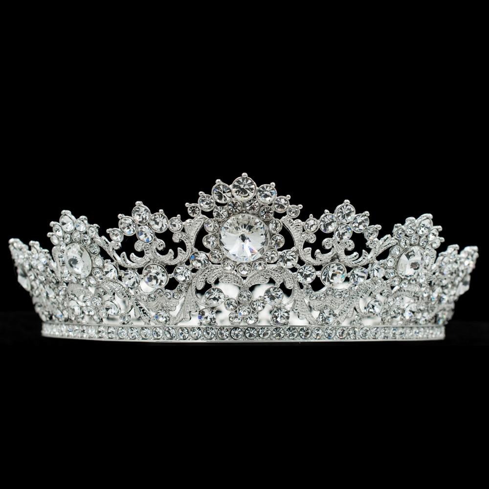 Austrian Crystals Bridal Tiaras Crowns Pageant Bridal Wedding Accessories Headpiece Headband Wedding Tiara SHA8733