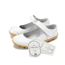 Plardin Plus Size 35-43 Genuine Leather Shoes Flat Shallow Ankle StrapOxfords Women Shoes Ballet Flats Women  Ballerina Flat