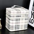 2017 New Large capacity double layer cosmetic bag Korean makeup bag Stone women Waterproof portable storage bag make up box