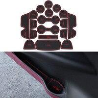 18Pcs Set Car Styling Slot Pad Interior Door Groove Mat Latex Anti Slip Cushion For Infiniti