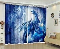 New Ferocious Monsters 3D Blackout Curtains Healthy non pollution Digital Print Curtains Customizable Tablecloth Shower Curtain