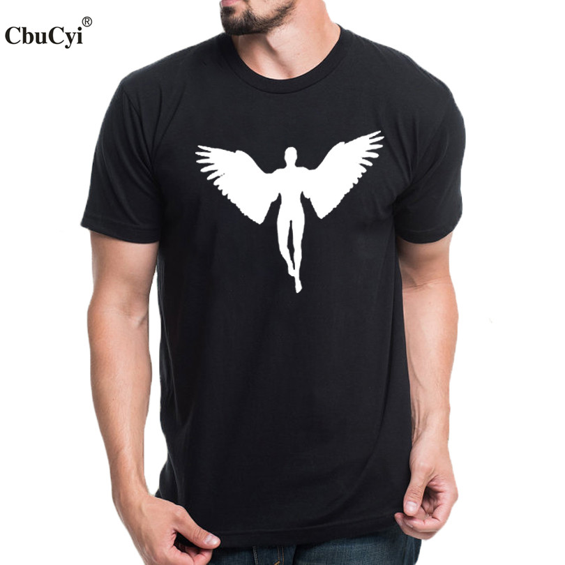 angel tshirt men cotton tops hipster harajuku printed t. Black Bedroom Furniture Sets. Home Design Ideas