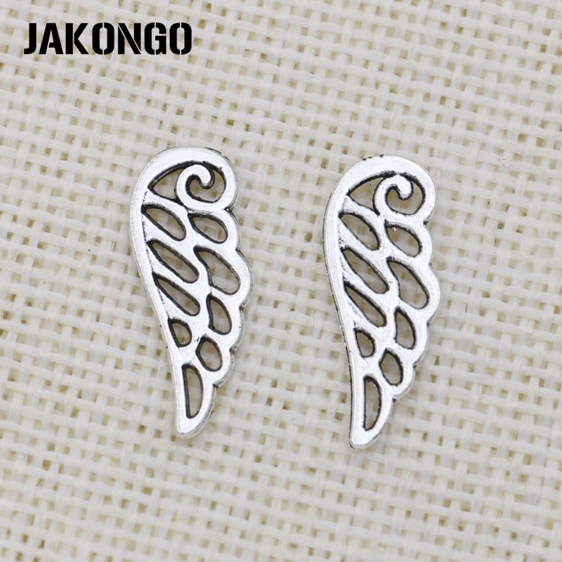 Silver Plated Angel Wing Pendant Charm for Charm Bracelet.