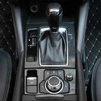 YAQUICKA For Mazda 6 Atenza 2017 2018 Car Interior Gear Shift Panel Head Electronic Handbrake Cover Stickers Accessories Styling
