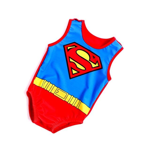 De una sola pieza de dibujos animados bebé 7-24 m del bebé del mameluco del bebé del traje de baño del traje de baño traje de baño de una sola pieza del bebé ropa de playa de playa linda bebé del traje de baño