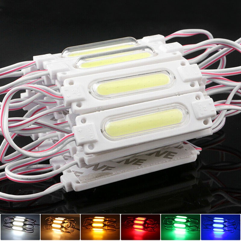 12V LED Module 20pcs 3 LEDs Super Bright String Light with Lens White Color IP65 Waterproof SMD Advertisement Design LED Module