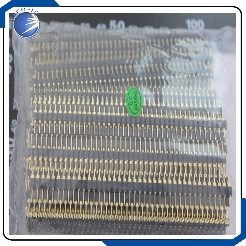 100PCS LOT 1 40p single row 2 54 pin 1 40 pin hole hole plated single