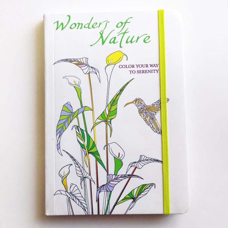 124 Sayfa Harikaları Doğa Renk Yolu Serenity Yetişkin Boyama Kitabı