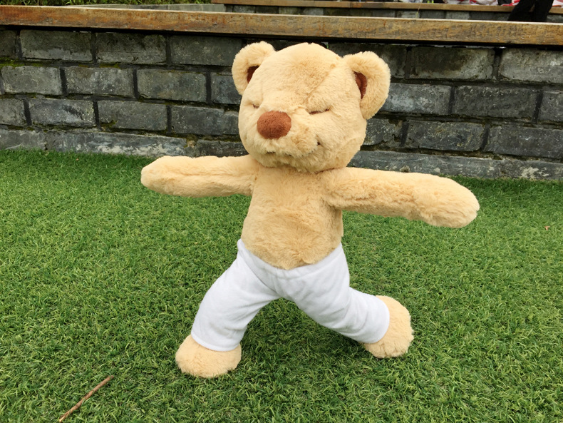 Environ 40 cm Yoga ours poupée populaire en peluche variété doux ours en peluche poupée cadeau de noël s2079