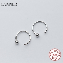 CANNER 925 Sterling Silver Stud Earrings For Women Simple Tiny Cute Round Beads Earings  New Fashion Jewelry R4