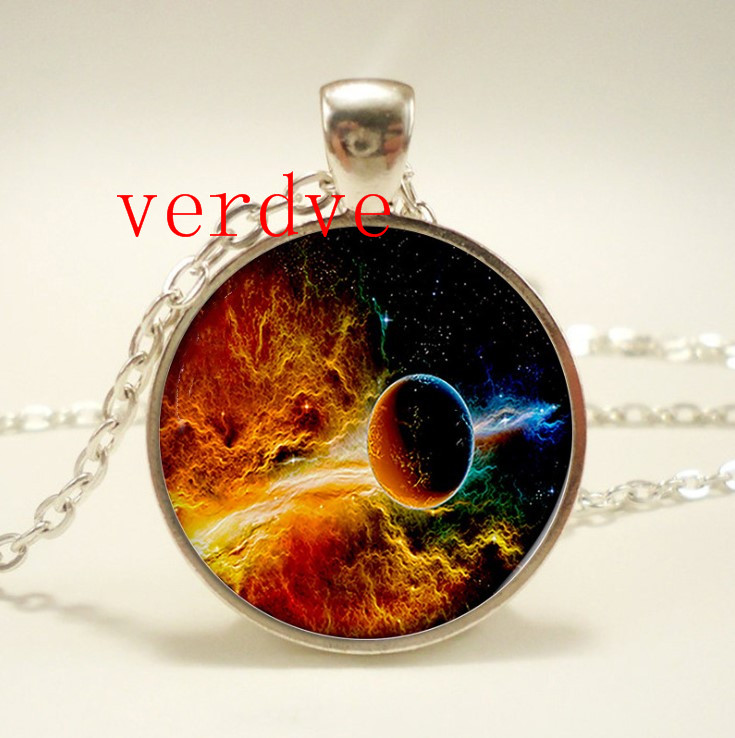 New Star Milky Way space jewelry galaxy necklace jewelry multicolor geek gift