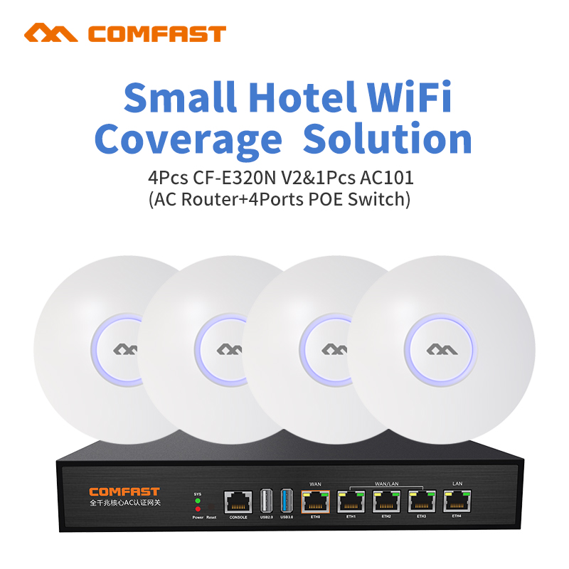 Router Load-Balance Wifi Manage AP 4port Home for Restaurant Hotel Cover Seamless 4pcs