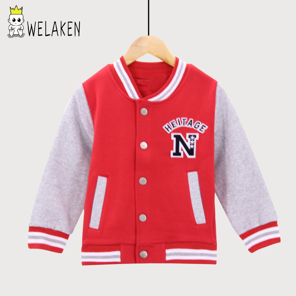 weLaken 2018 Children Hoodies Kids Jackets Girls Sweatshirt Sport Coat Boys Moleton Letter Print Spring Autumn Leisure Outerwear цена 2017