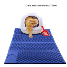 Cat Litter Mat Double Sided Pad Trapper Waterproof Foldable Kitten Scatter Control Larger Holes pad