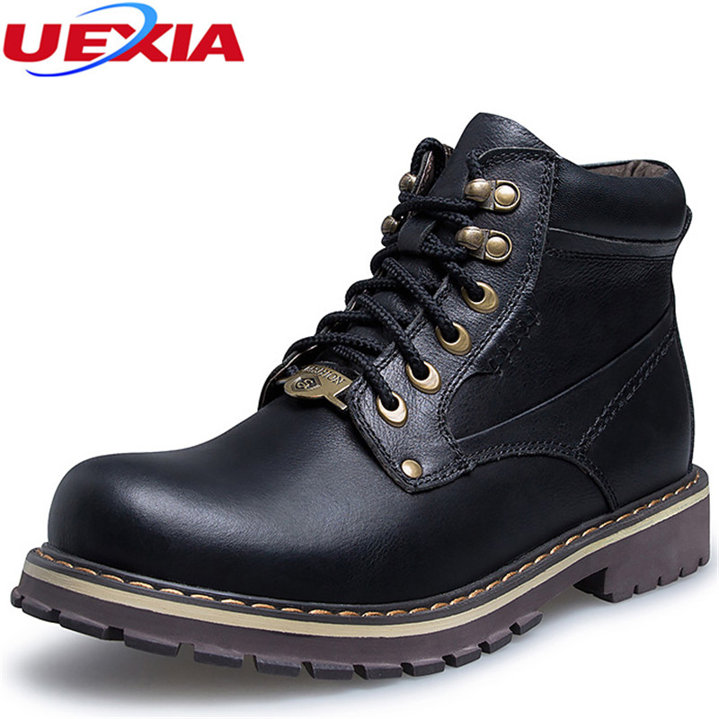 High Quality Winter Boots Men Fashion Warm Fur Plush Ankle Boot Russian Comfortable Couple Men Shoes Unisex Boots Big Size 37~50 new arrival fashion style couple wear shoes striped men women winter time slippers indoor wear unisex good quality comfortable