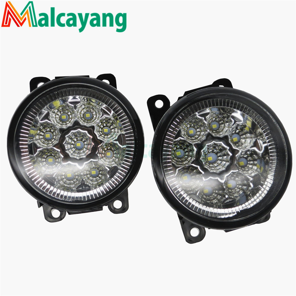 For Renault MEGANE 2 Saloon LM0 LM1 2003-2015 Car styling front bumper LED fog Lights high brightness fog lamps 1set for holden commodore saloon h11 wiring harness sockets wire connector switch 2 fog lights drl front bumper 5d lens led lamp