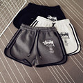 Mulheres letras confortáveis shorts com cordão Elástico Na Cintura shorts feminino bandage macacões para as mulheres shorts de fitness workout T563