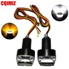 1 Pair Motorcycle LED Turn Signal Light Indicators 2W Flashers 22mm Handlebar Bar End Plug Blinker