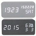 Цифровой Будильник Время СИД Дисплей Температуры Календарь Sound Control Электронные Настольные Часы