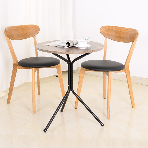 Metal Side Table Simple Small Triangle Round Tea Coffee Table Round Table Wood and Iron Table for Sell