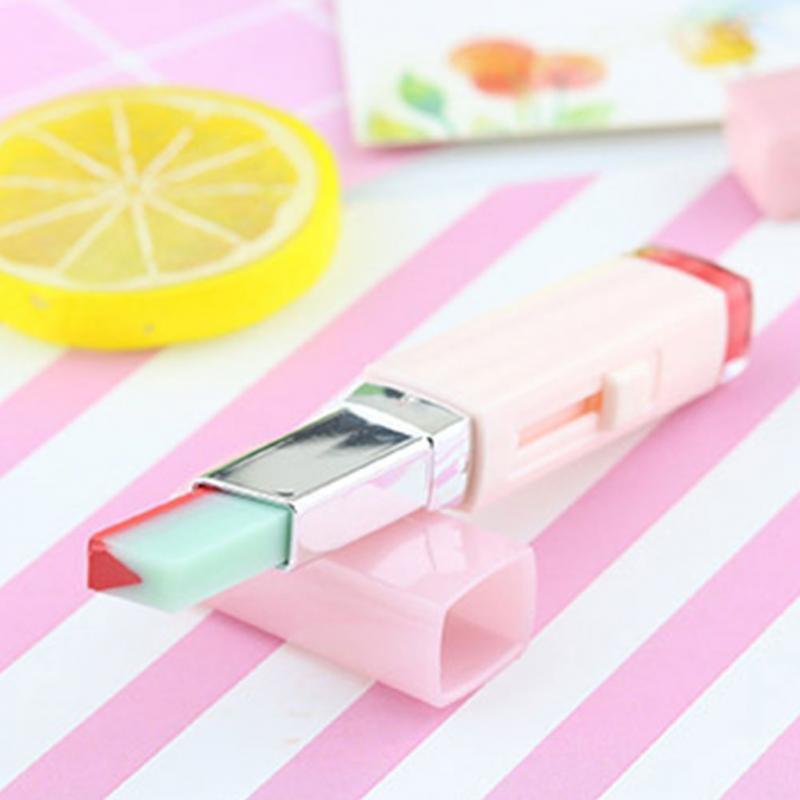 Korean Style Gradient Color Lipstick Moisturize Two Color Tint Lip Gloss long Lasting Waterproof Lip Balm Women Makeup Beauty 7