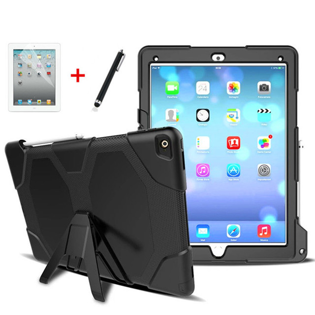 sale retailer f9c3a 3dde4 US $22.99 |Case for ipad pro 12.9 2015 Hard Rugged Heavy Duty ShockProof  Dirt Proof Armor Silicone Rubber Cover para For ipad pro 12.9 2017-in  Tablets ...