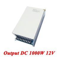 S 1000 12 Switching Power Supply 1000W 12v 83A,Single Output Dc Power Supply For Led Strip,AC110V/220V Transformer To DC 12 V