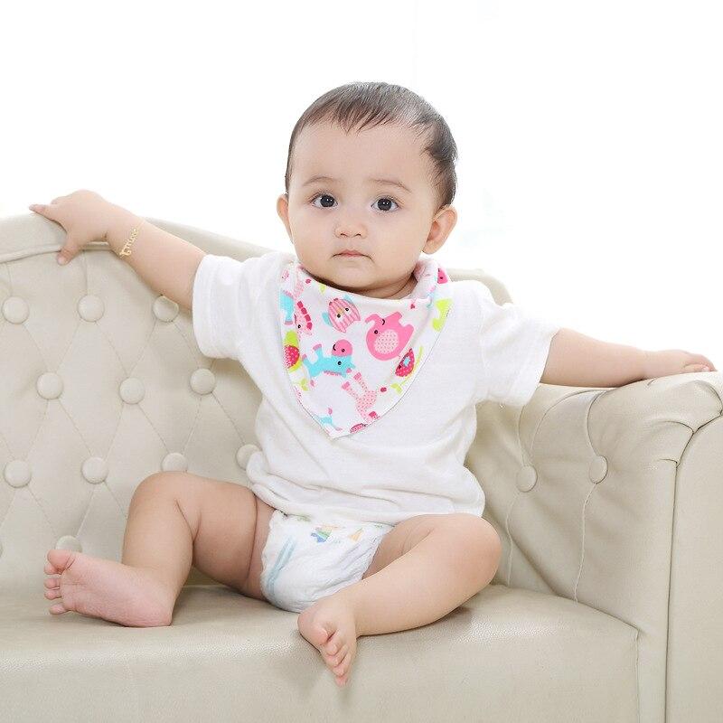 Baby Bibs Cotton Baby Feeding Apron Triangle Cute Baby Bibs Girls Boys Cartoon Feeding Scarf Bib Collar Bib Burp Cloth