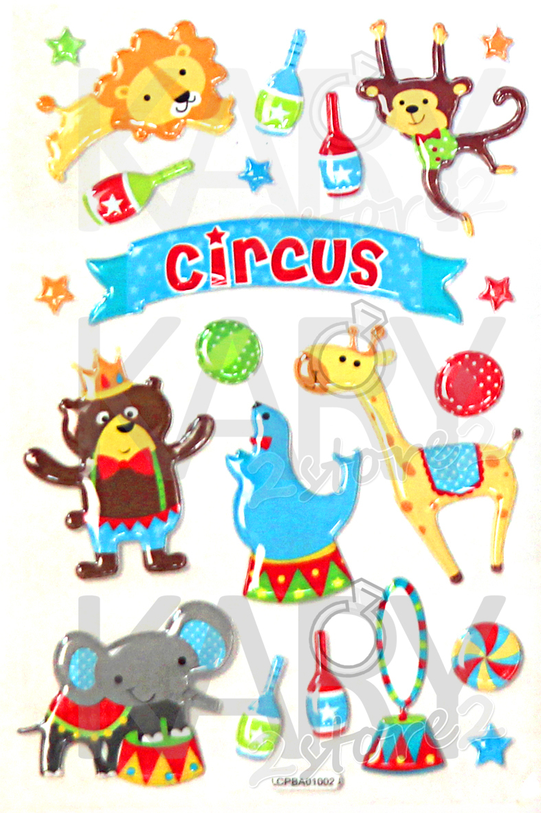Uncategorized Circus Images For Kids scrapbooking game crystal stickers kawaii emoji reward kids children toys cartoon animals circus background stlc04 2 in from t