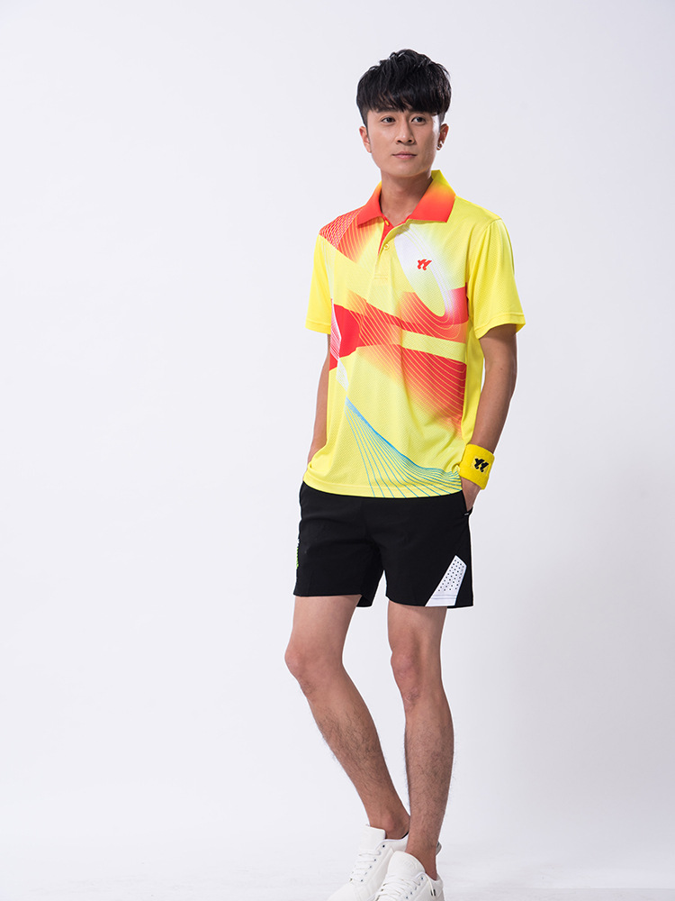 Спортивная быстросохнущая дышащая футболка для бадминтона, майки для женщин/мужчин, волейбол, гольф, настольный теннис, боулинг, мужские футболки