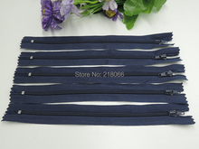 100 Pcs Navy Color 25cm Nylon Coil Zippers Tailor Garment Accessories Sewing Tools 10 Inch
