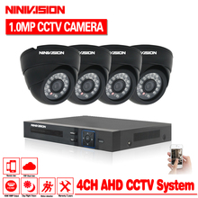HDMI 1080PSecurity Camera System 4ch CCTV System AHD DVR Kit 4 x 720P Security Camera 1.0mp Camera Surveillance System 1TB HHDD