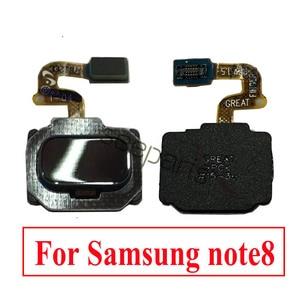 Image 2 - Câble flexible de bouton de Menu à la maison de capteur dempreinte digitale didentification de contact pour Samsung Note 8 pièces de rechange pour lempreinte digitale de Samsung note 9