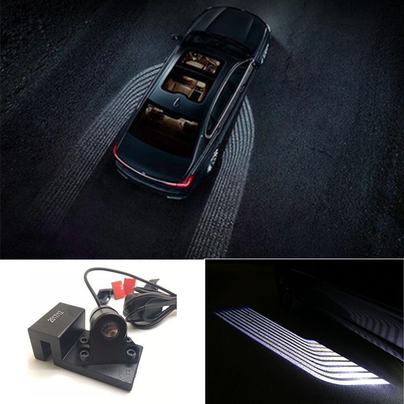 Фотография Newest Angel Wings Car welcome lights Spotlight Universal Fit Car Door Projector Light Ghost Shadow Puddle 12V-24V For All cars