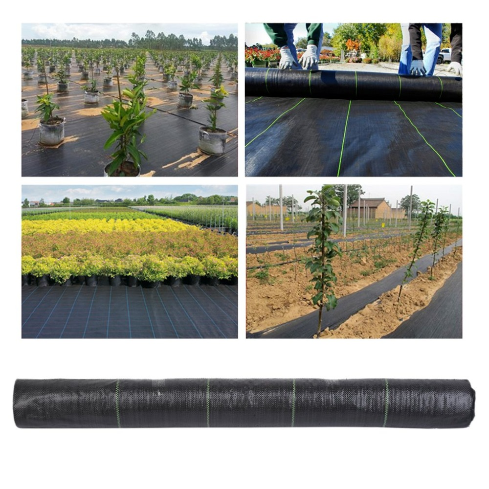 Heavy Duty PP Wide Weed Barrier Control Fabric Ground Cover Membrane Garden Landscape Driveway Weed Block Nonwoven 50x1M/100X1M дырокол deli heavy duty e0130
