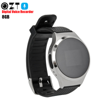 QZT Digital Voice Recorder Watch Professional Audio Recorder Dictaphone MP3 Player USB Mini Voice Activated Recorder Flash Drive