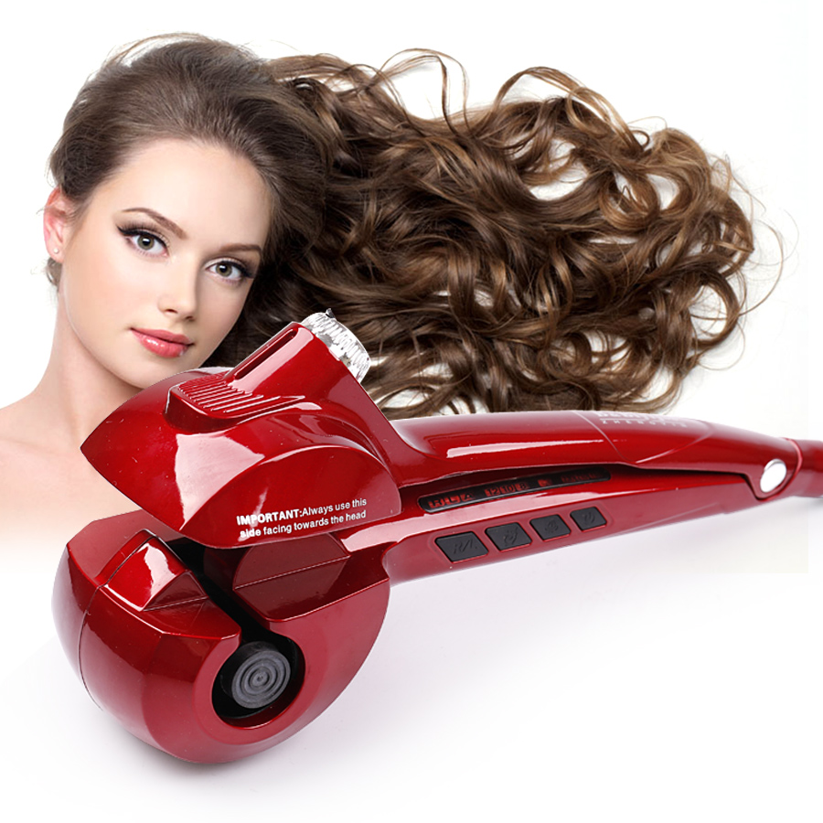 Fast Heating Professional Automatic Curling Steam Spray Magic Hair Curler Titanium Hair Care Styling Tools Ceramic Wave Roller professional beauty hair care styling tools tourmaline ceramic automatic fast hair curler