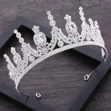 AAA Rhinestone Crown สำหรับ Royal Queen เจ้าสาว Tiaras Crowns เจ้าหญิงมงกุฎ Headband เครื่องประดับผมแต่งงาน Pageant อุปกรณ์เสริม