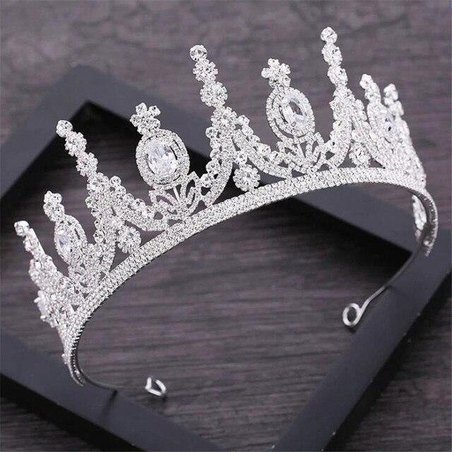 AAA стразы Корона для королевской королевы свадебные тиары короны принцесса диадема повязка на голову Свадебные украшения для волос конкурс головной аксессуар