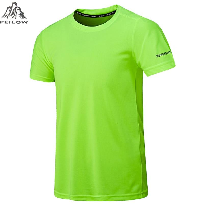 PEILOW big size L~5XL,6XL,7XL,8XL men soild color Quick Dry Camisa Masculina o-neck short sleeve   t  -  shirt   man casual tops&tees
