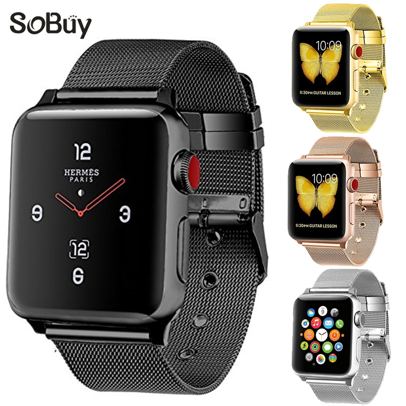 wrist Bracelet 316L Stainless Steel bands for apple watch 42mm 38mm iwatch strap series 1 2 3 sport Milan Nice metal band цена