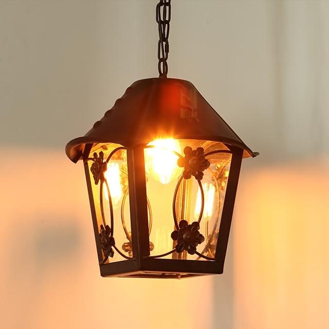 Small House Vintage Chandelier Lamp Warm Yellow Light Antique Loft ...