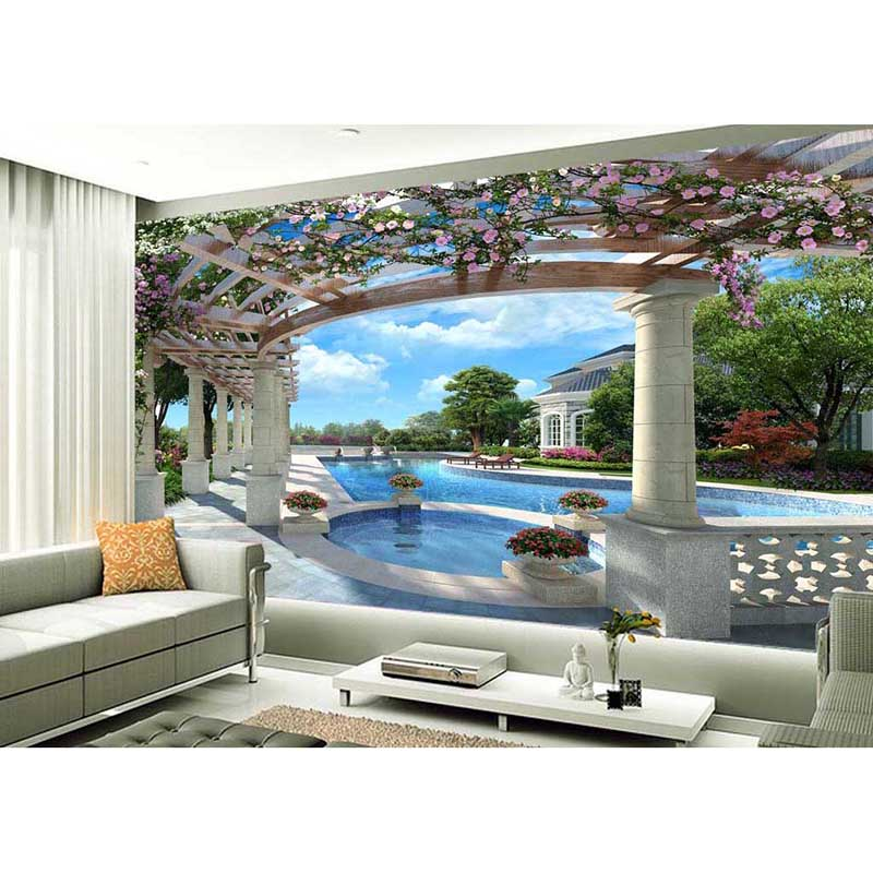 Romantic 2016 3d wall mural wallpaper european style for Bedroom looks for 2016
