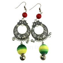 Colorful Long Earrings for Women Earings Tribal Ethnic Jewelry Round