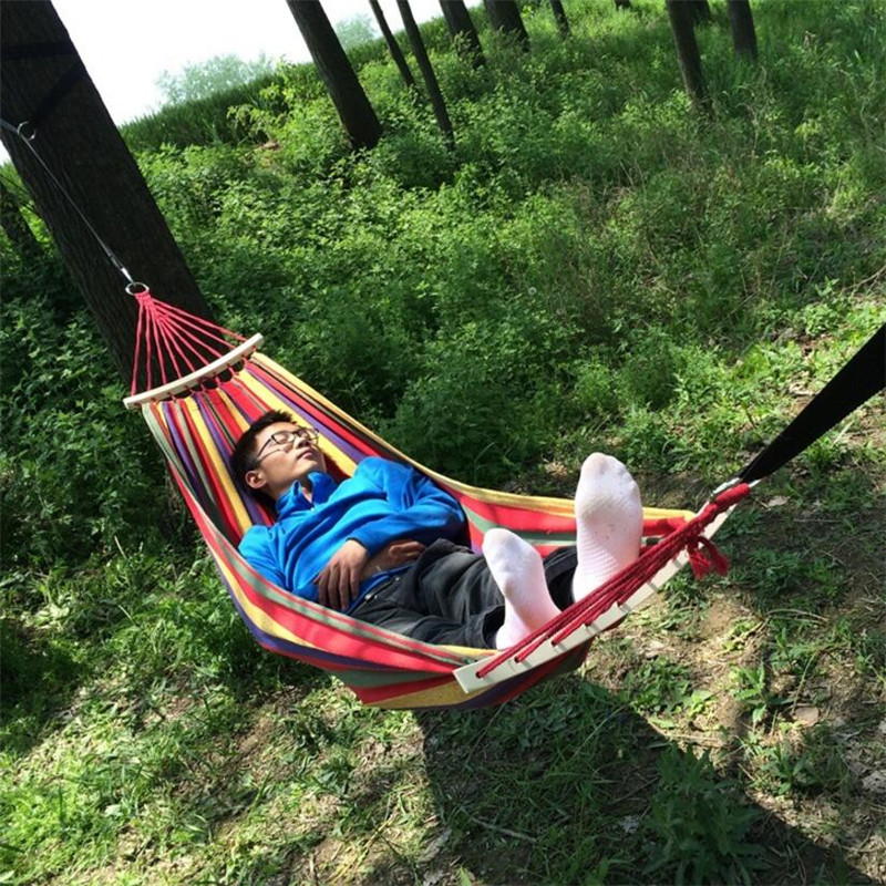 sleeping hammock outdoor portable furniture hamac person garden survival parachute bag hunting travel products camping tools